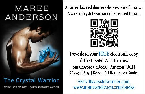 DIY book business cards: Download The Crystal Warrior (Book One of The Crystal Warriors Series) FREE!