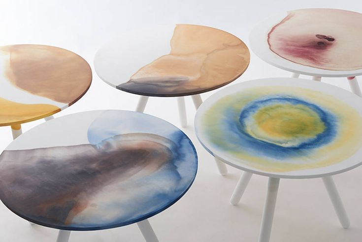 Dyed Plastic Tables Collection – Fubiz Media