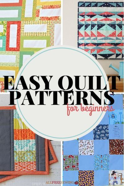 45+ Easy Quilt Patterns for Beginners | Always wanted to try quilting? Then you'll love these easy quilting projects for beginners!