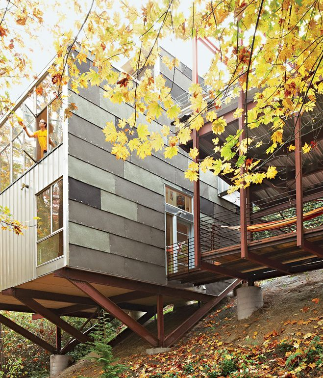 Slope Style Condo: 76 Best Images About Steep Slope Houses On Pinterest