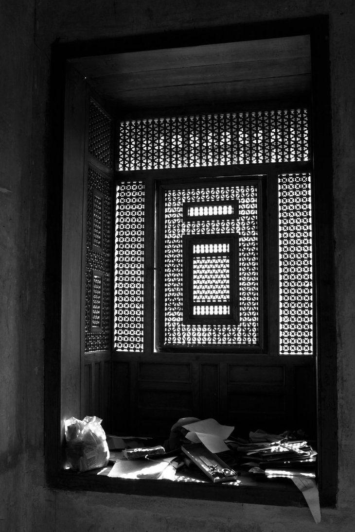 Islamic Mashrabiya Screen in old Islamic house by Ahmed Elwy .