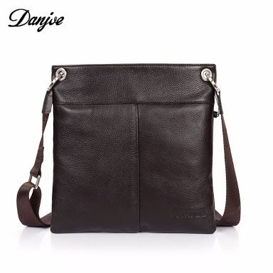 Shoulder Bag Men Quality Cross Body Bags Directly From China Messenger Suppliers Danjue 2017 New Cow Leather Brown Business