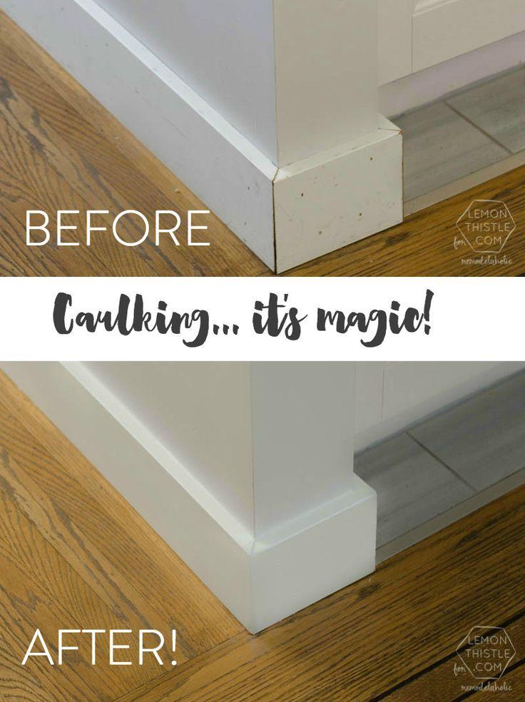 Bathroom caulking tips