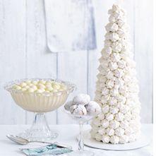 De witte kerstboom uit de delicious.kerst (p. 108) is favoriet! Dat blijkt uit de enthousiaste reacties die we op de redactie binnenkrijgen. Enkele lezers zijn nog op zoek naar de schuimpjes, omdat ze niet bij alle supermarkten en banketbakkers goed verkrijgbaar zijn. Culinair redacteur Trudelies Schouten: 'C1000 heeft de schuimpjes in ieder geval in haar...