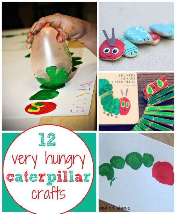 Our favorite crafts based on the Eric Carle book, The Very Hungry Caterpillar.