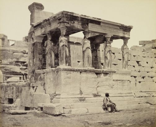 Francis Bedford (1815-94) - The Caryatid porch of the Erechtheum [Athens, Greece]