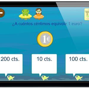 ejercicios monedas euros billetes matemáticas con grin 678