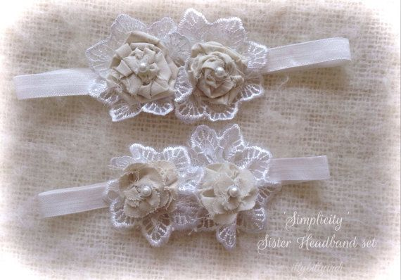 Simplicity headbands sister duo set calico lace vintage inspired  on Etsy, $44.95 AUD