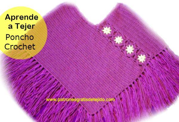 Cómo tejer con ganchillo un poncho para niños