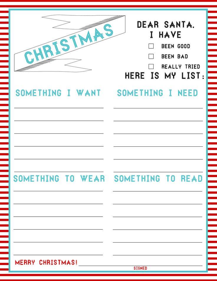 how do you write a christmas list