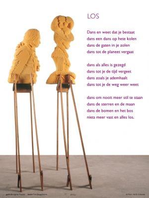 Aan de muur - Poëzieposters - poëzieposter met gedicht Los van Ingmar Heytze