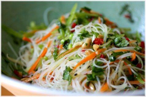 Sesame Rice Noodle Salad