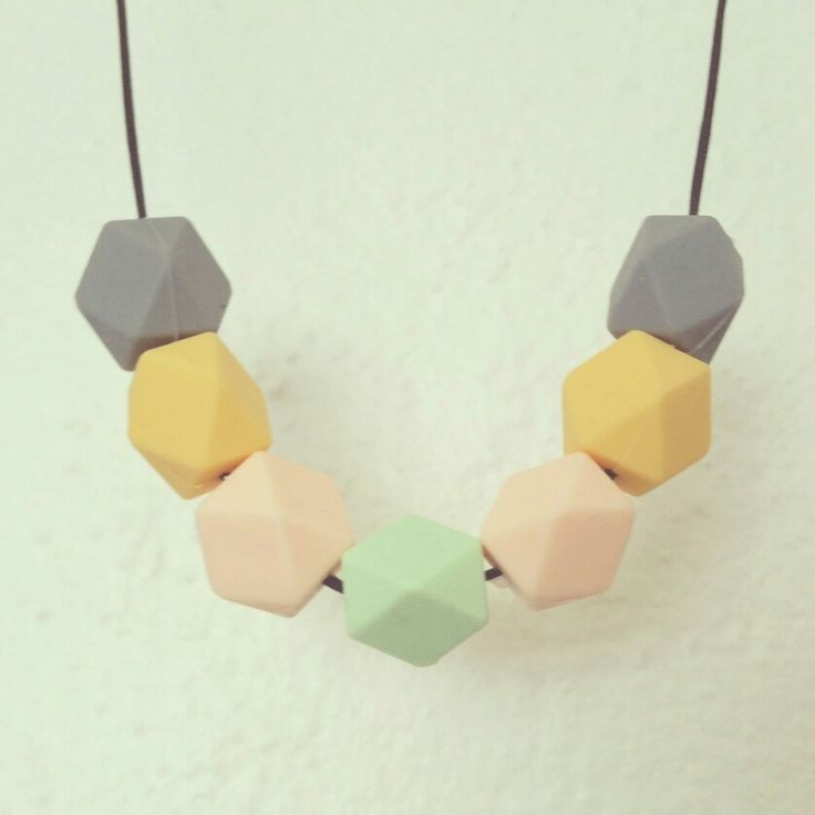 Teething silicon beads necklace by plepleple