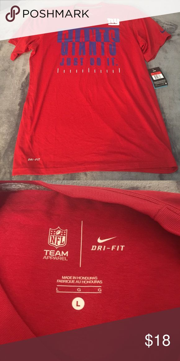 Nike NY Giants training tee. Size L Equipment NFL training the Nike tee athletic cut shirt. NY Giants football. New with tag. Bundle with other sport T logos- and I'll give you a great discount! Nike Shirts Tees - Short Sleeve