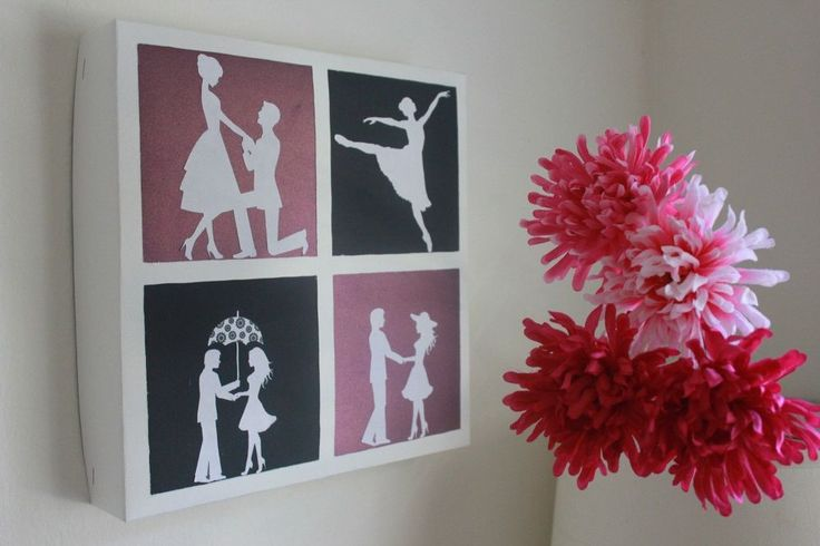 This time I wanted to make something simple, pretty and romantic! I made a wall decor using romantic couple silhouettes which reflects love and happiness. I got…