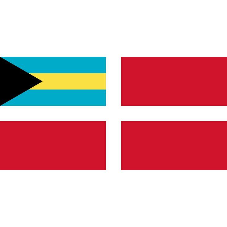 vlag Bahama's koopvaardij | Bahamaanse koopvaardij vlaggen 100x150cm