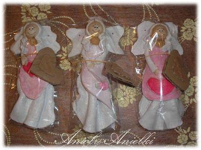 Aniołki z masy solnej. DIY - Handmade Craft. kursykrokpokroku.blogspot.com#aniołki #masasolna #craft #DIY
