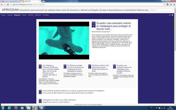 "Actualización Boletín ""La Caracola"" 22/03/16 Video: Pez Martillo http://aprocean.blogspot.com.es/"