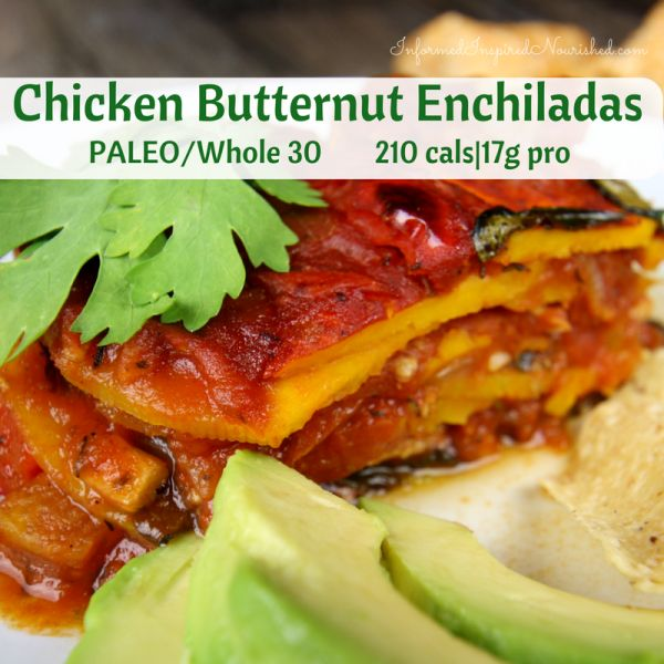 Chicken Butternut Enchilada Casserole | InformedInspiredNourished