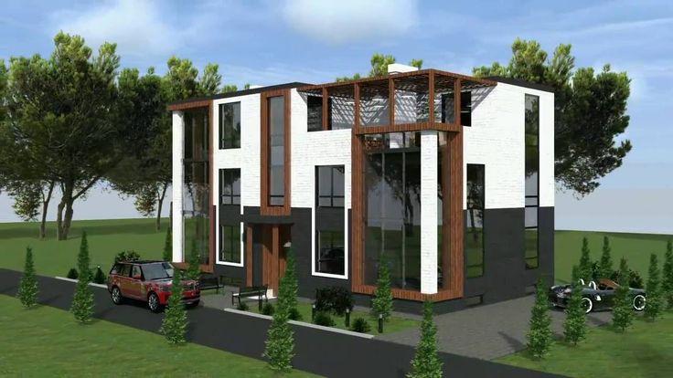Строим дом. Проект таунхауса на шесть квартир.