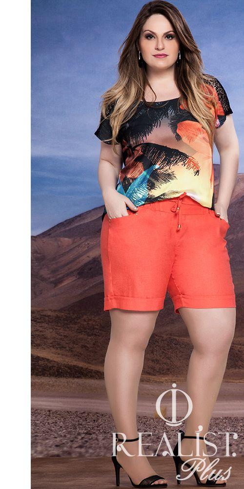 Realist Plus Size. Look da coleção Verão 2014/15. #plussizefashion #plussizeoutfits #plussize #plus #size www.facebook.com/realistplus www.instagram.com/realistplus