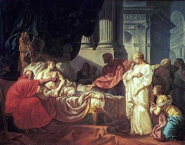 Jacques-Louis DAVID - Antiochus et Stratonice - 1774 - Petit Palais (prix de Rome)