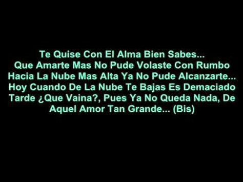 Amarte Mas No Pude Diomedes Diaz - Letra - YouTube