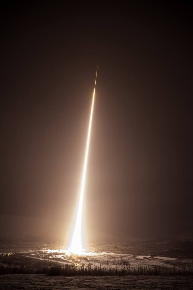 A Black Brant IX sounding rocket launched from the Poker Flat Research Range in Alaska Jan. 19, carrying a mission to measure diffuse X-rays from the local galactic neighborhood. The flight was a success, and the science team is reviewing data.  Credit: NASA/Allison Stancil