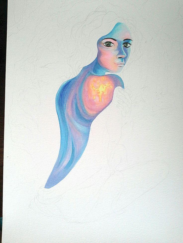 Ilustracion en proceso   Materiales: pulmones en base alcohol #mavitz #ilustración #dibujo #art