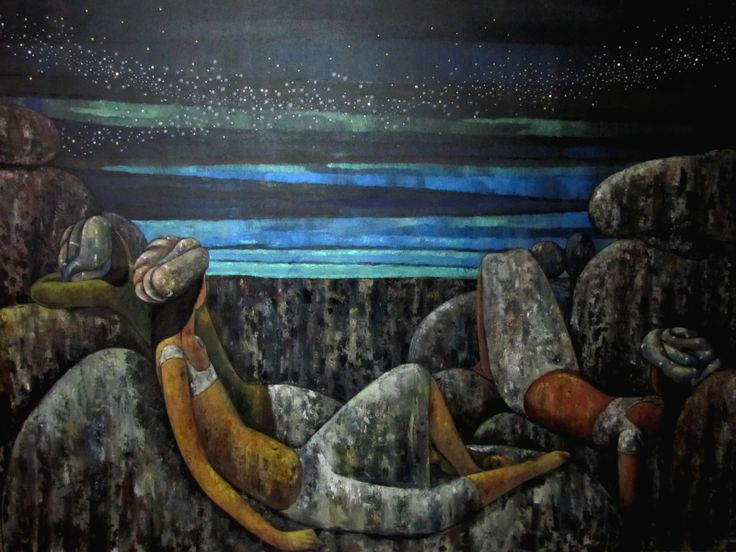 "Visit our Everyday Masterpiece on #indianartcollectors #artfromindia #buypaintingsonline #Contemporaryartpainting Suruchi Jamkar's ""Gazing Into The Twilight"" Acrylic On Canvas Size: 96"" X 72"" Price: INR 3,20,000 / $5,867 http://www.indianartcollectors.com/popup-image-artist.php?arid=66863&pop=true"