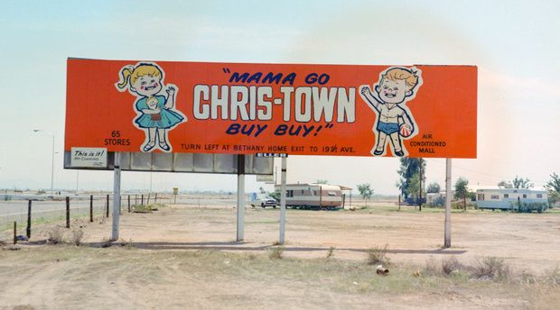Billboard For Chris Town Mall In The 1960s Phoenix Arizona