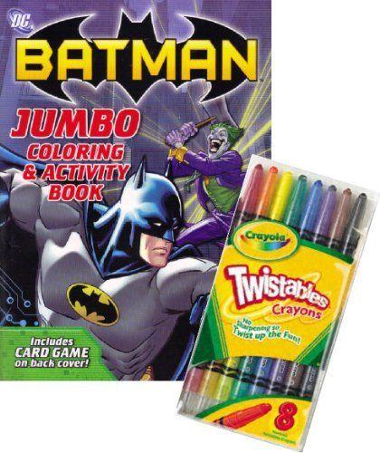 DC Comics BATMAN Coloring Book Set With Crayola Twistable Crayons By 1490