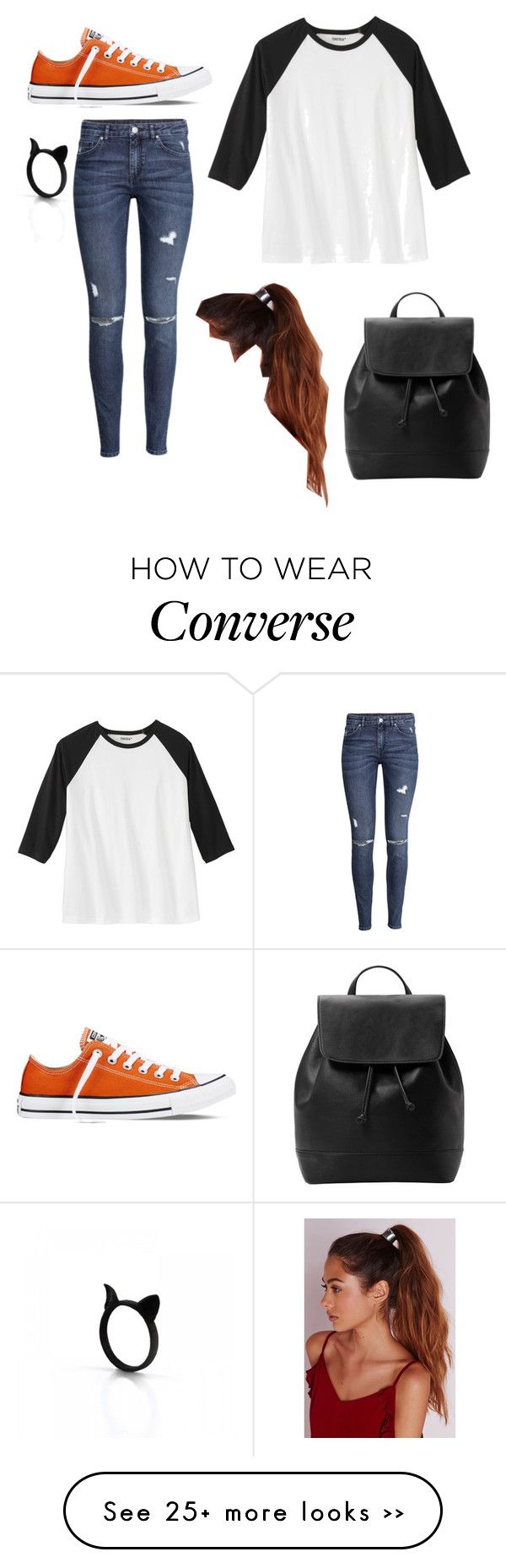 """""""Untitled #2012"""" by if-i-were-famous1 on Polyvore featuring Converse, H&M, Missguided and MANGO"""