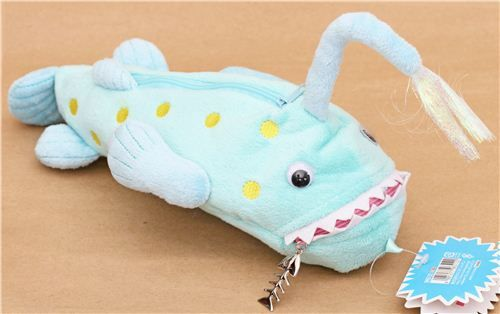 Funny latern fish deep sea monster plush pencil case from for Fish pencil case