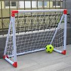 4x5FT Football Soccer Goal Post Nets F Sport Training Practice Outdoor Match Hot