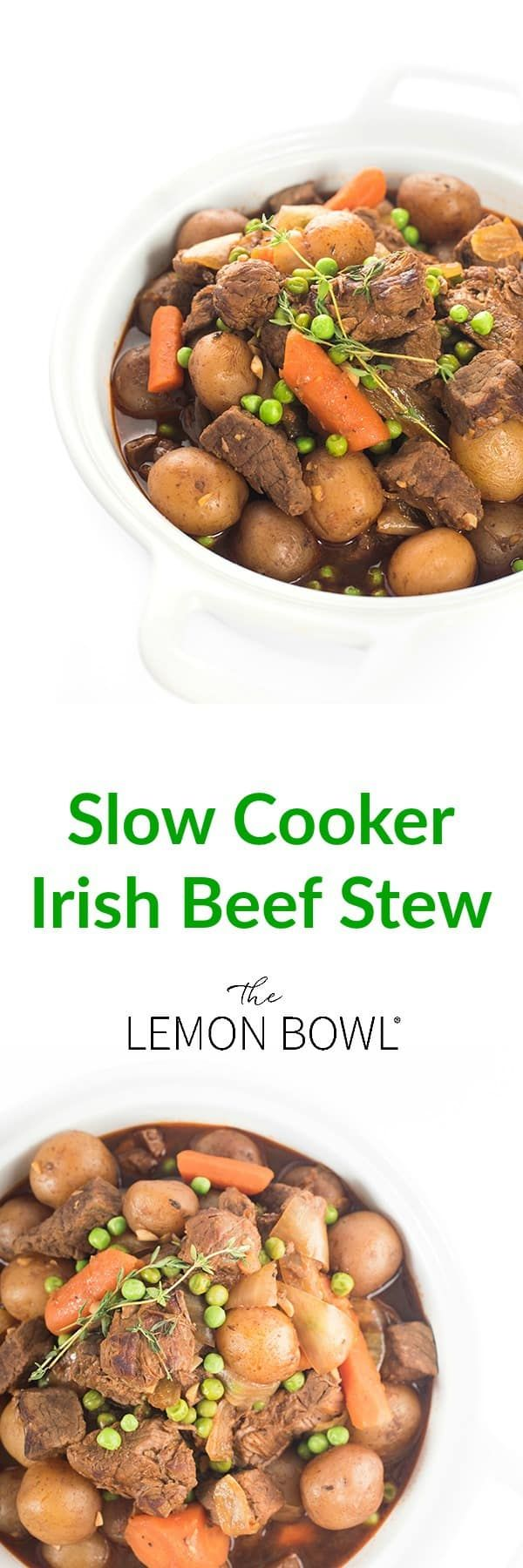 The ultimate one-pot dinner recipe, this slow cooker Irish stew is filled with hearty vegetables, creamy potatoes and tender beef.