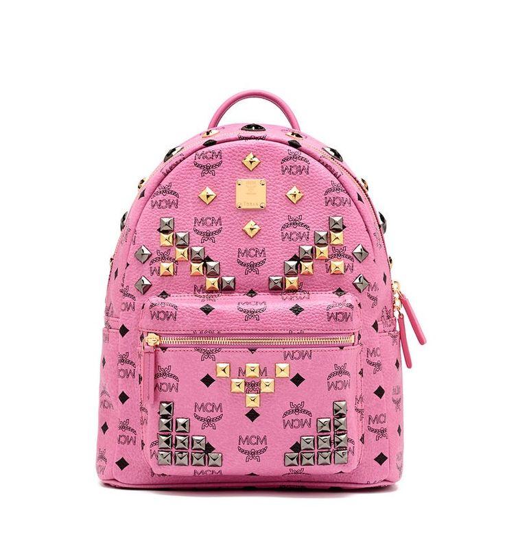 MCM STARK BACKPACK PINK - MCM-1 #mcm #backpack #pink #bag http://www.mcm-sale.com/backpacks/46-mcm-stark-backpack-pink-.html