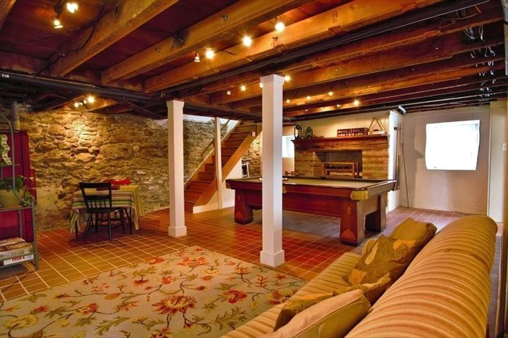 36 Great Exposed Beam Ceiling Lighting Ideas Rustic Basement Updating House Basement Lighting