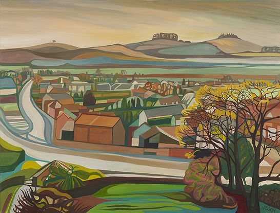 Anna Dillon the Artist - View from Dorchester Abbey.