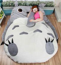 Üretici Büyük Boy Anime Karikatür Totoro Yatak Tasarım Yumuşak Yatak çocuk Dev Büyük Hediye Yastık Tembel Kanepe Mat Tatami Peluş oyuncaklar(China (Mainland))
