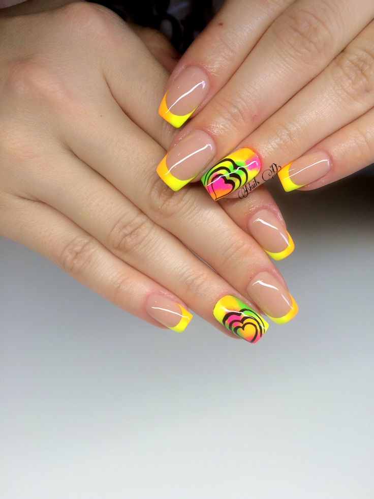 Nails design#rainbow nails#my pozitive client#love her🌈
