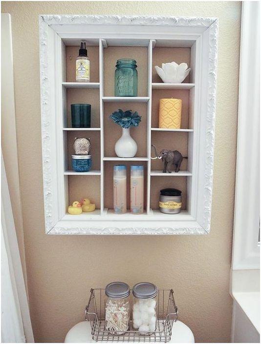 Framed toilet storage