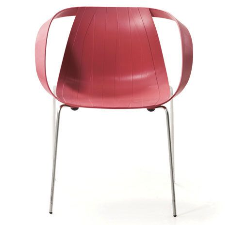 Impossible Wood red, design Doshi Levien for Moroso.