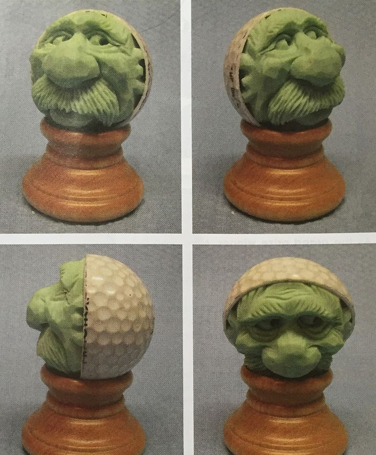Best images about carved golf balls on pinterest
