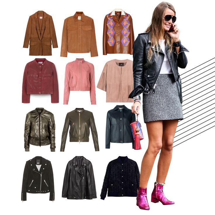 Blouson en cuir : 20 blousons en cuir pour un look rock et chic - Elle