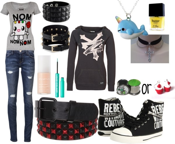"""emo/scene outfit of the day :D"" by xxrainbowgashesxx ..."