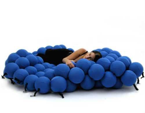 Unique Furniture Design Idea Creating Ultimate Support Sofa Bed Shaped With  Balls
