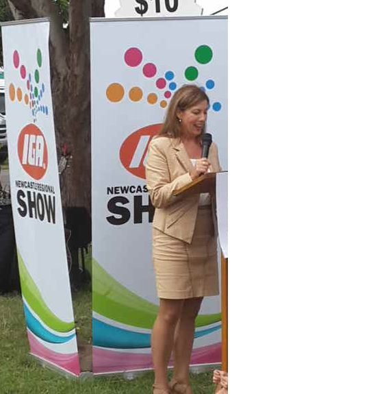 Liberal candidate Karen Howard spoke at the official launch for the IGA Newcastle Show 2015.