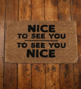 Bruce Forsyth inspred door mat from Retro to Go