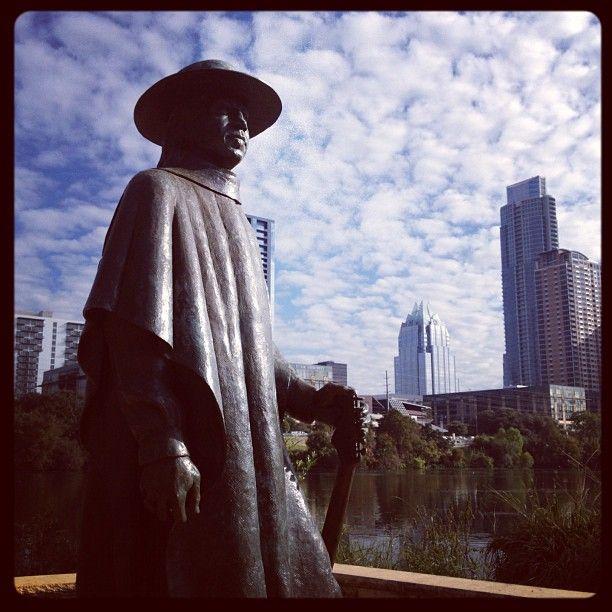 Stevie Ray Vaughan Statue in Austin, TX
